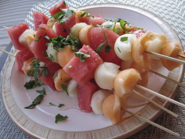 Thai Melon Skewers