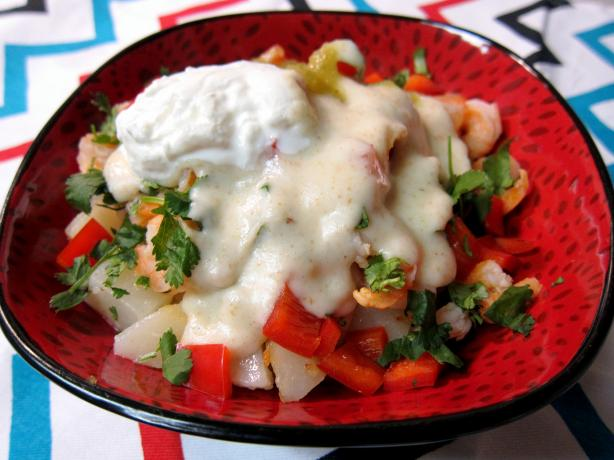 Shrimp Potato Nachos