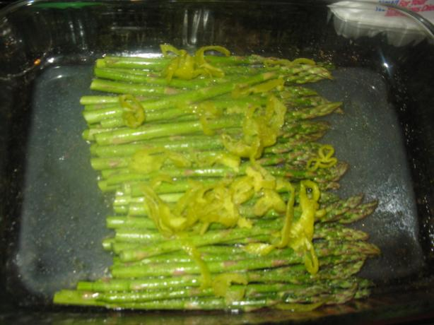 Asparagus With Pepperoncini in Lemon Juice