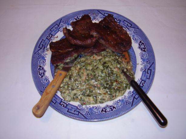 Decandant Creamed Spinach