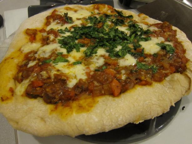 Meatless Mushroom Bolognese Pizza