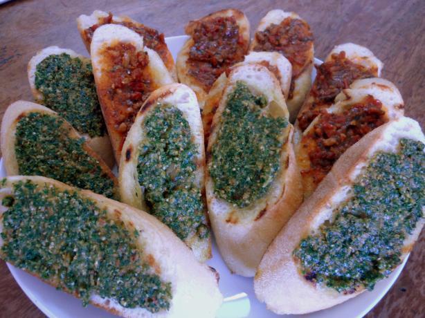 Grilled Pesto Bread