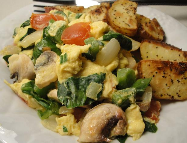 Healthy Veggie Scramble