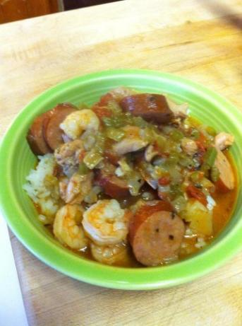 Shrimp Etouffe With/without Chicken And Sausage
