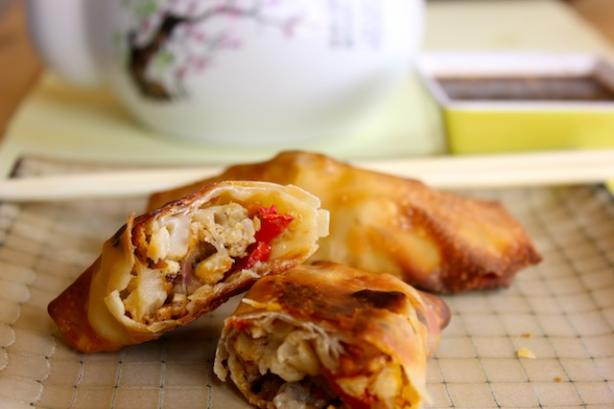 Cauliflower Egg Rolls With Sweet and Sour Sauce