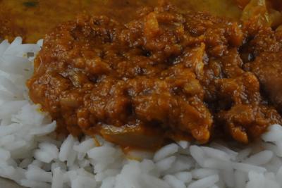 Peanut Sauce over Rice (Benin)