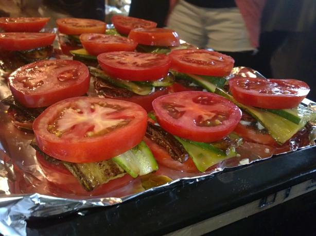 Zucchini and Tomato Stacks