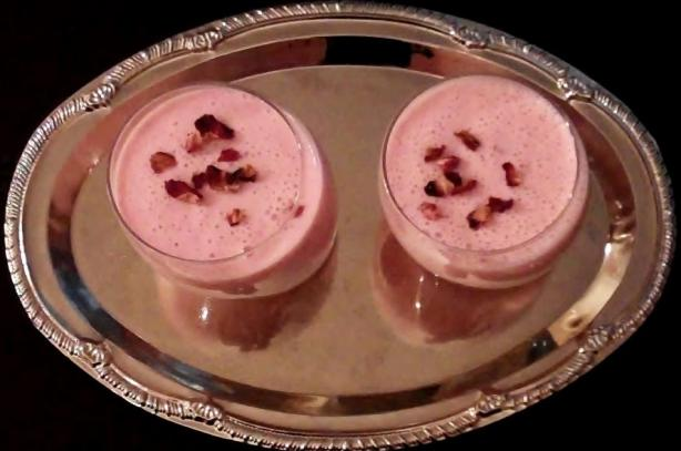 Aarsi's Ultimate Strawberry and Rose Lassi