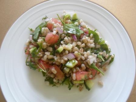 Wheat Salad With Vegetables
