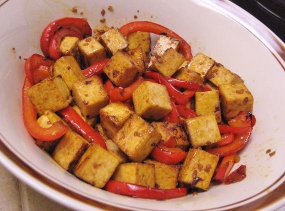 Szechuan Tofu and Red Bellpepper