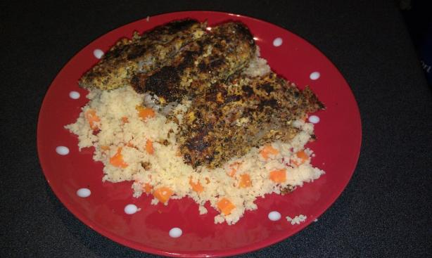 Crunchy Mustard and Mint Lamb With Couscous