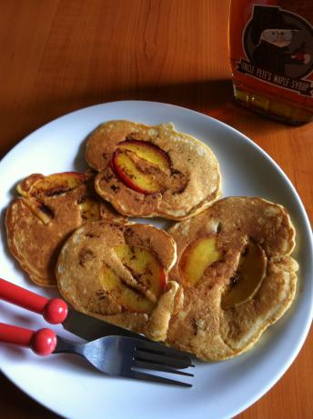 Sweet Peach Pancakes