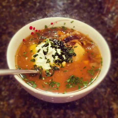 Russian Barley Mushroom Soup