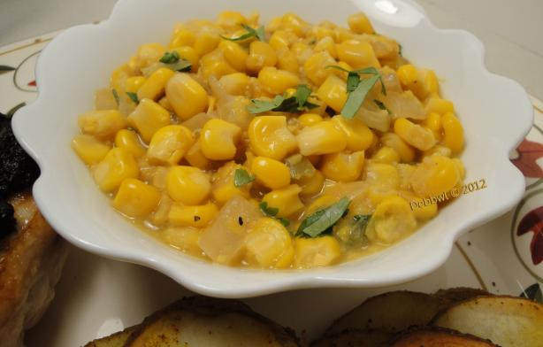 "Spicy ""Creamed"" Corn (Dairy-Free)"