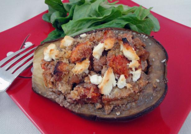 Nutty Stuffed Eggplant