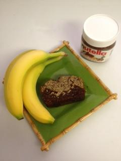 Banana Bread W/Nutella and Chia Seeds