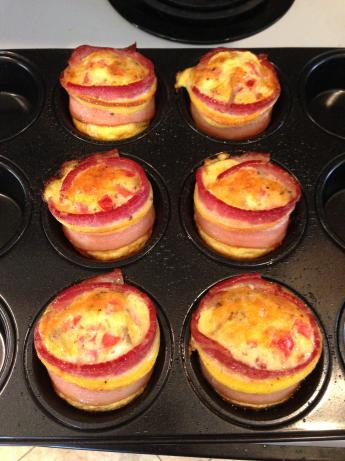 Bacon-Wrapped Cheddar Egg Bites