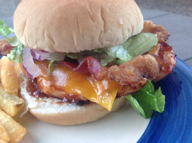 BBQ Chicken With Bacon Sandwiches