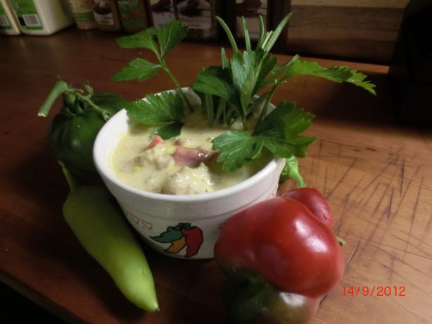 Hungarian Stuffed Hot Pepper Chowder #RSC