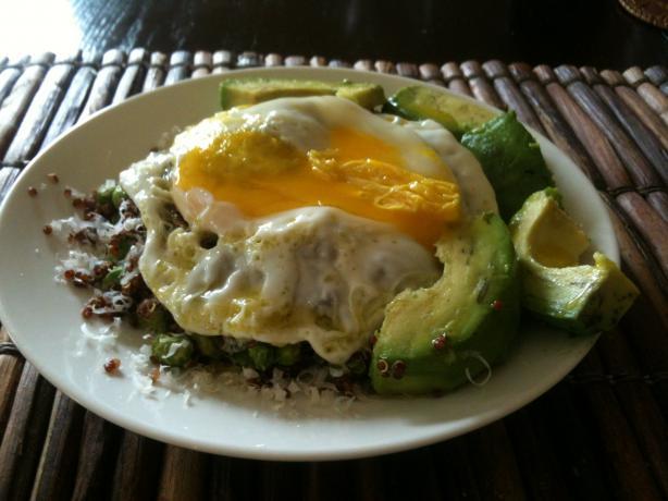 Quinoa With Edamame, Parm, and Egg