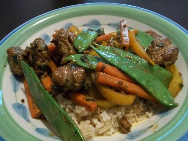 Sausage & Madras Curry Veggies