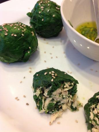 Chicken Spinach Ricotta and Hazelnut Balls