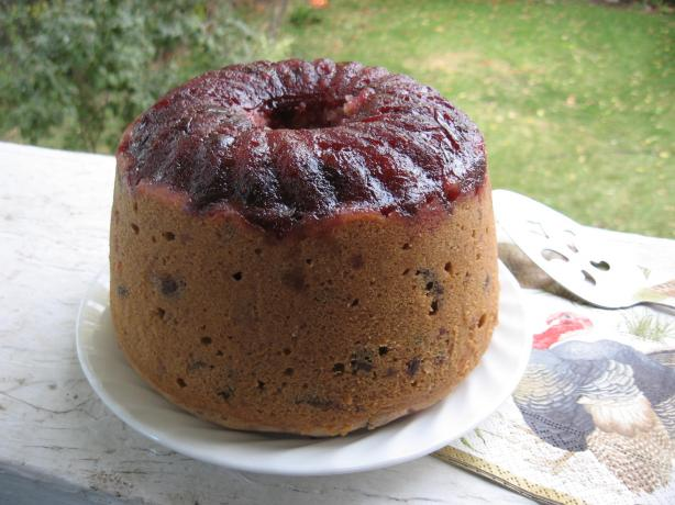 Cranberry-cherry Steamed Pudding