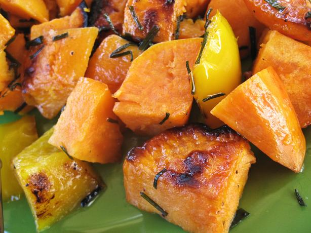 Grilled Sweet Potato and Pepper Packets