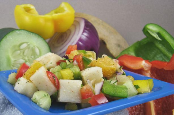 Jicama, Bell Pepper, And Citrus Salad