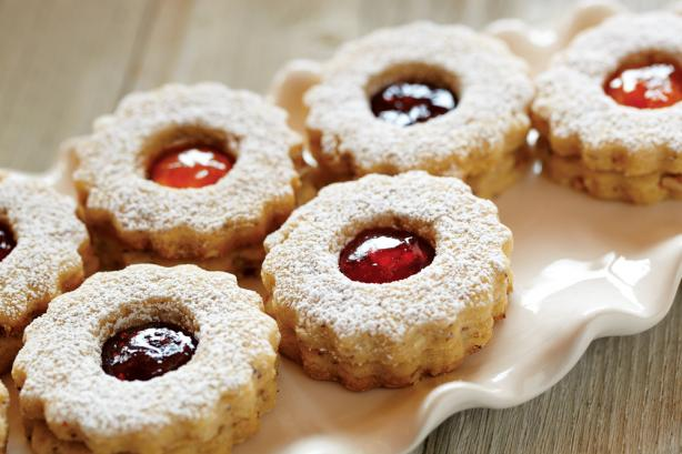 Jam and Hazelnut Cookies