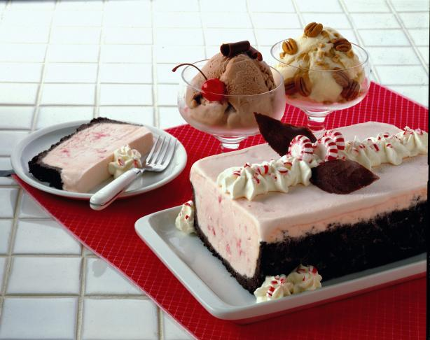Peppermint Ice Cream Loaf