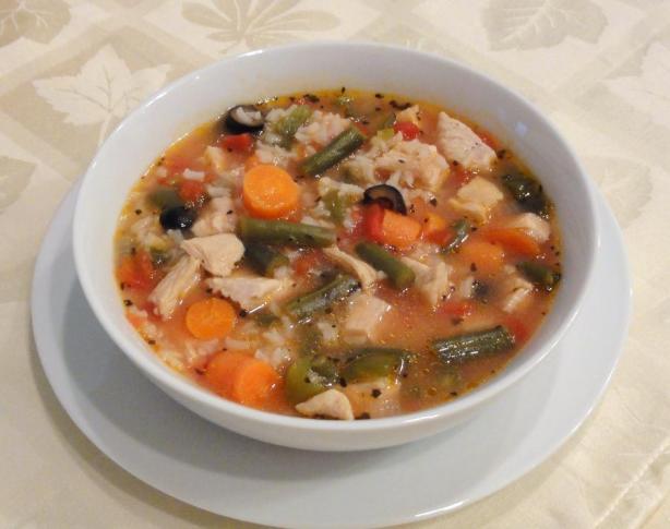 Chunky Turkey Soup, Mediterranean Style