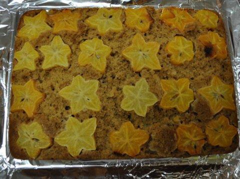 Starfruit (Carambola) Upside Down Cake