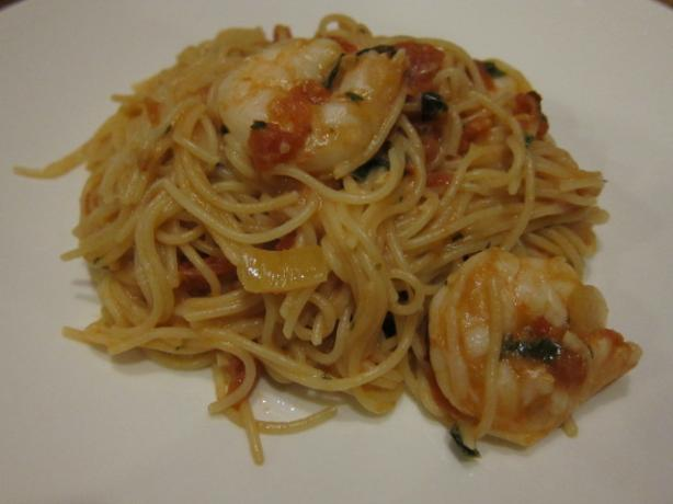 Capellini and Shrimp Alla Rosa