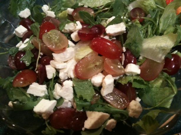 Romaine, Feta and Grape Salad