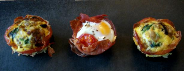 Prosciutto Wrapped Egg Cups