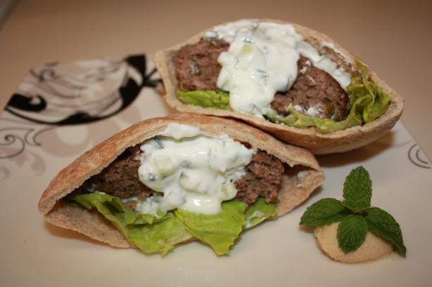 Tzatziki Indian-Style Burgers
