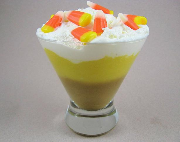 Candy Corn Layered Pudding