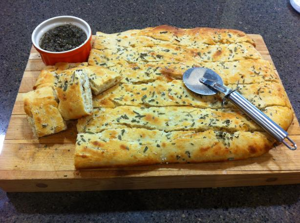 Fougasse With Olive Tapenade