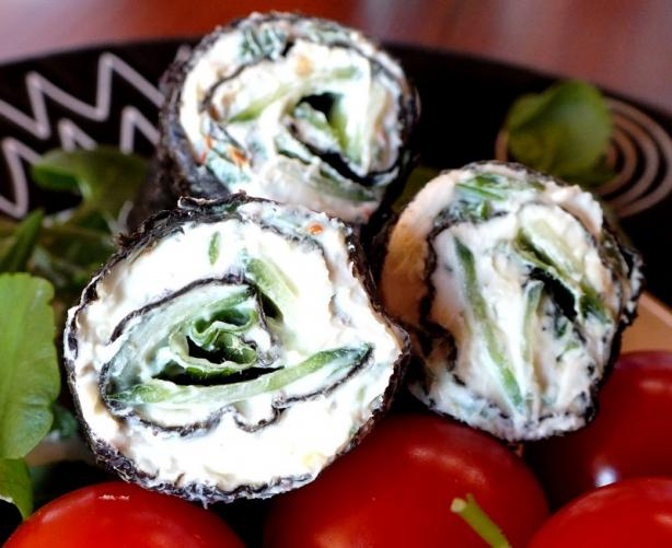 Cream Cheese Snacks Rolled in Nori Leaves