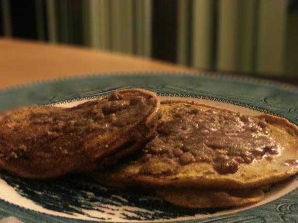 Cinnamon Pumpkin Streusel Pancakes