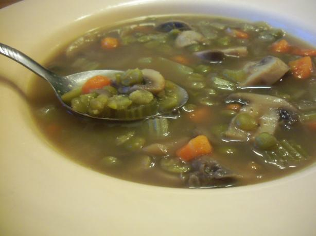 Mushroom and Split Pea Soup