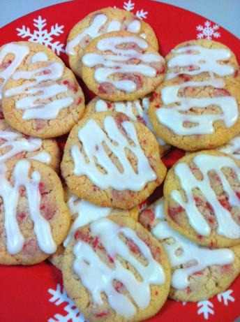 Almond Glazed Cherry Chip Sugar Cookies