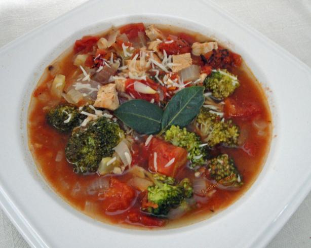 Broccoli, Tomato and Chicken Soup