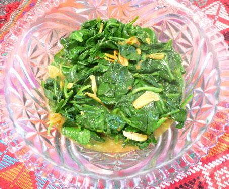 Sauteed Spinach With Indian Spices