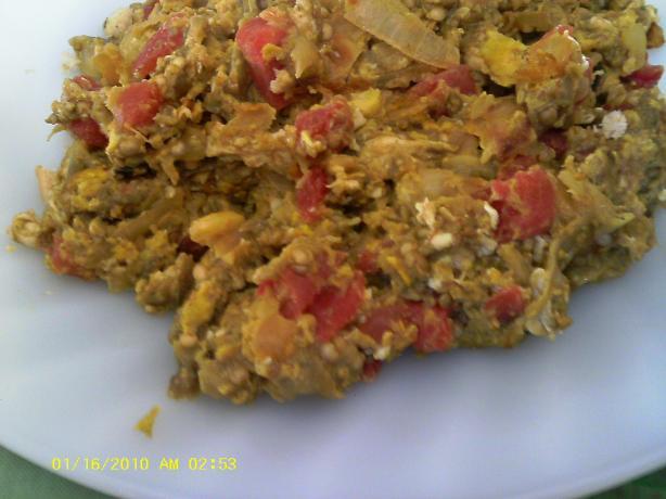 Mirza Ghasemi Mashed Eggplants With Eggs