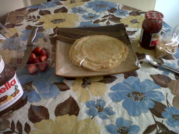 Best Homemade Desert Crepes Ever!
