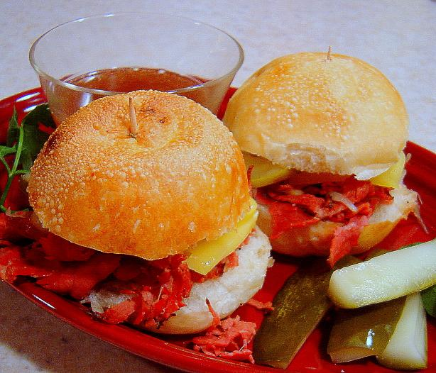 Hot Pastrami Sliders (For the Crock Pot)