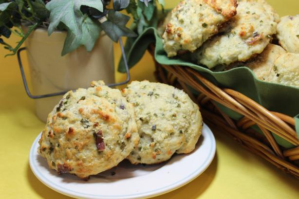 Red Potato Parmesan and Chive Drop Biscuits #RSC