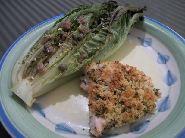 Parmesan Chicken With Caesar-Roasted Romaine